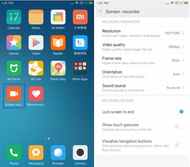 Xiaomi vai introduzir app gravador de tela na MIUI 8