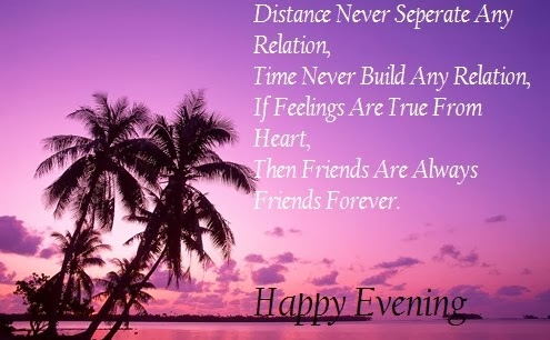 evening saying friends