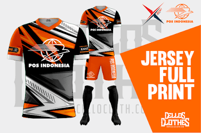 Desain Jersey Full Printing Sublime Full Color Jersey Pos Indonesia