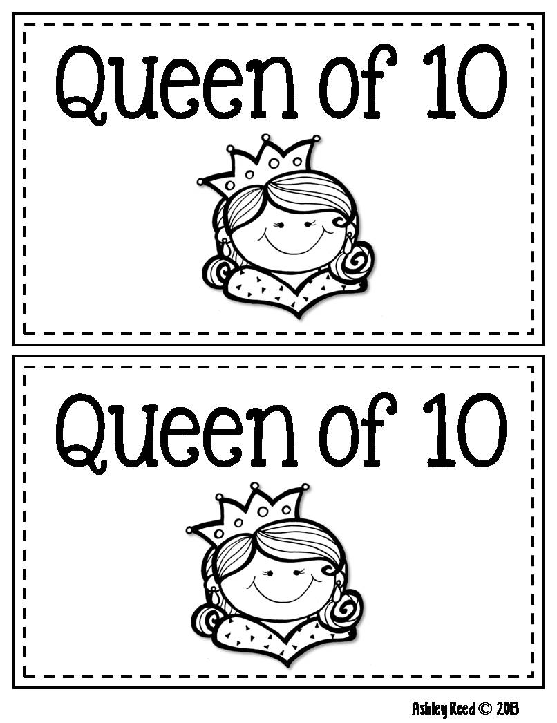 Just Reed: Inspiration from a Fabulous Book: The Queen of Ten!