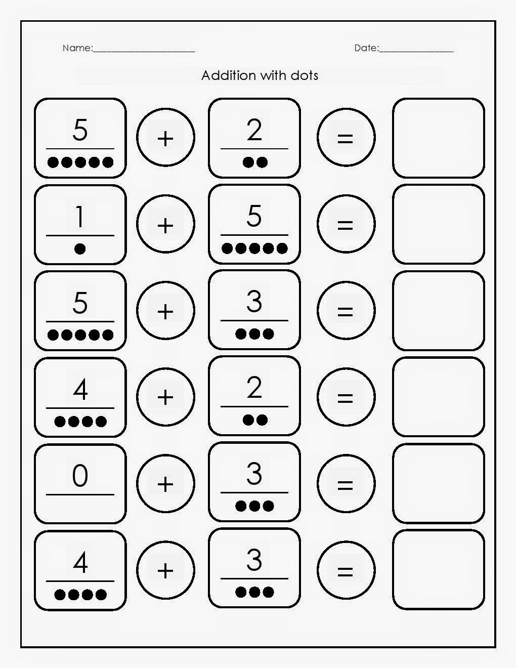 kindergarten worksheets maths worksheets addition with dots worksheets 1. Black Bedroom Furniture Sets. Home Design Ideas