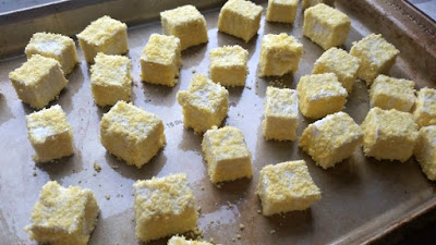 Southern Homestyle Gluten Free Corn Flake Crumbs coating on Tofu