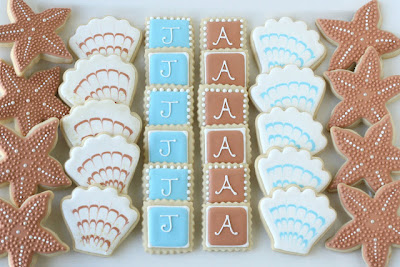 cookies for a beach themed wedding