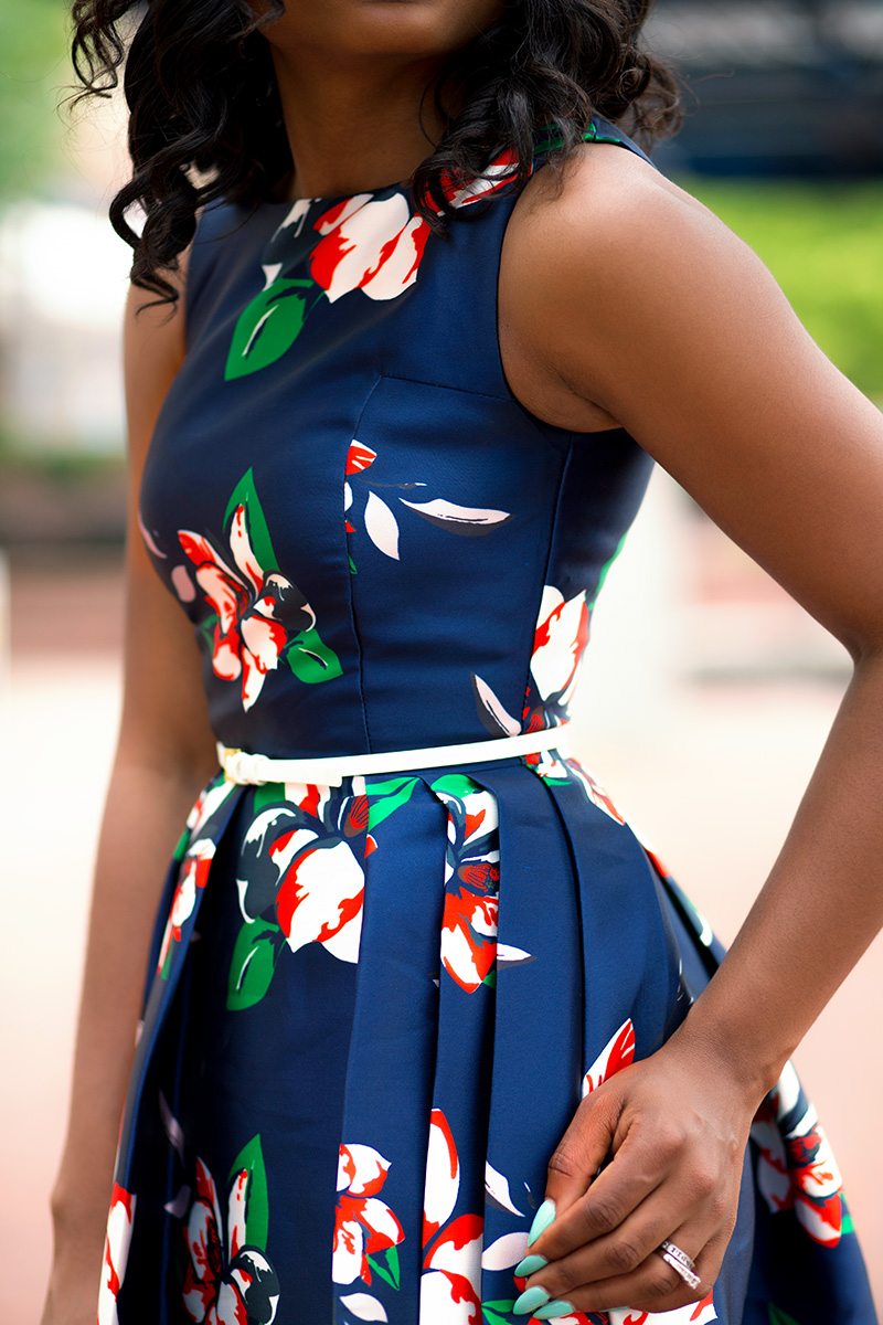 Floral dress for summer