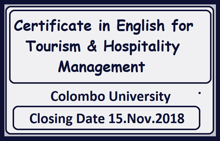 Certificate In English For Tourism Hospitality Management