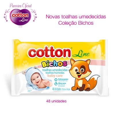 Cotton Line Toalhas Umedecidas Coleção Bichos