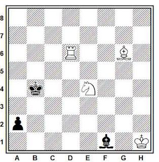 Estudio artístico de ajedrez compuesto por Juan Ramón García Orenes