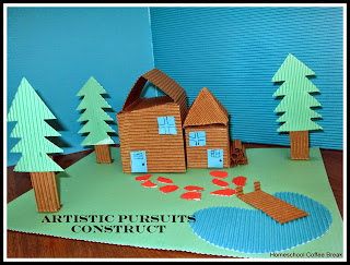 Art Resource Reviews on the Virtual Refrigerator, an art link-up hosted by Homeschool Coffee Break @ kympossibleblog.blogspot.com - Dream Home (Sculpture Technique Construct from ARTistic Pursuits)