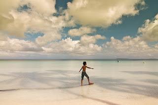 Pasir pantai putih Kei Kecil