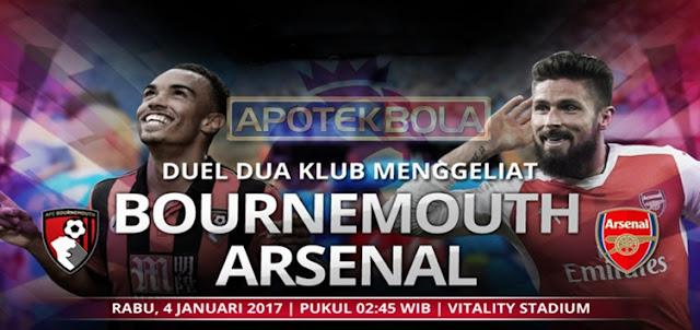Prediksi Pertandingan Bournemouth vs Arsenal 3 Januari 2017