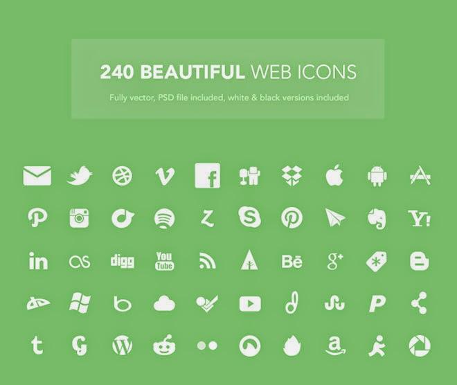 240 Beautiful Web Icons