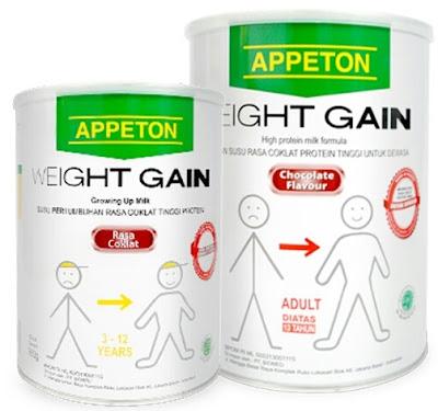 Appeton Weight Gain, Susu Formula yang Tepat untuk Penggemukan Badan