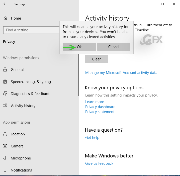 How to Make the option to delete your history? www.ceofix.net