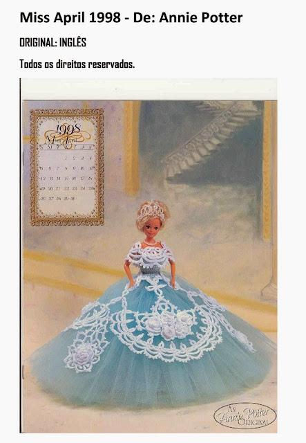 Pap vestido de Barbie Tradução do Inglês Para Português de Modelos de Crochet Para Barbie