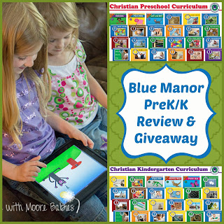 Blue Manor PreK & K Curriculum Review and Giveaway