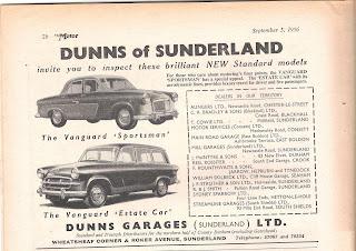Dunns Garages (Sunderland) Ltd advert from Motor 5 September 1956