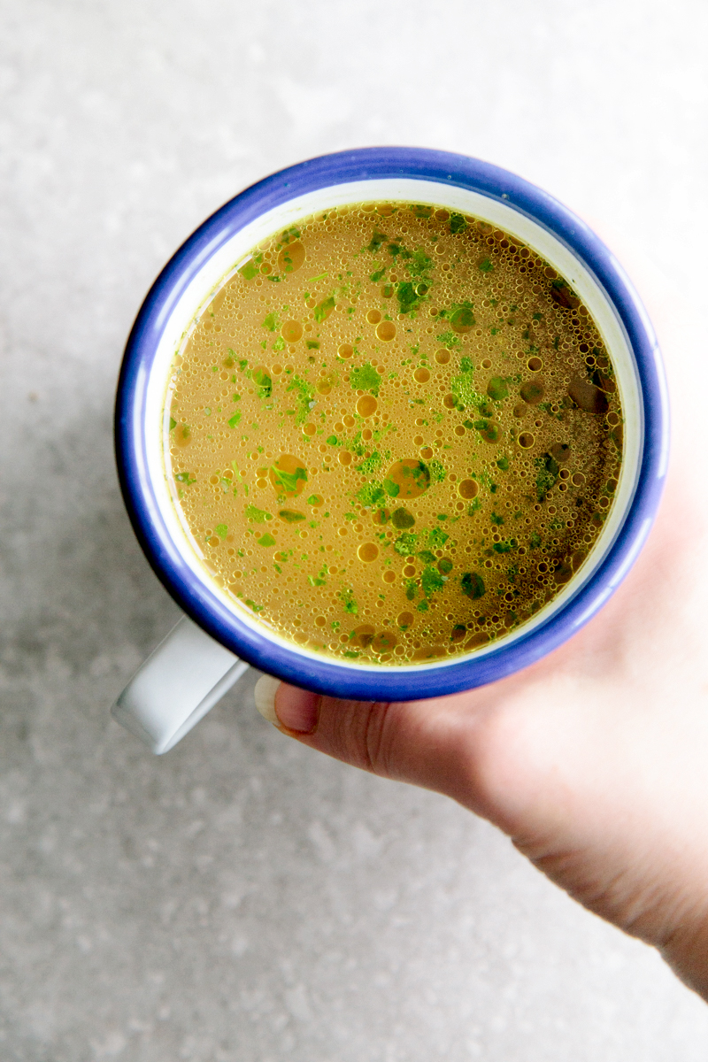 GUT-HEALING VEGETABLE BROTH #recipe #vegan
