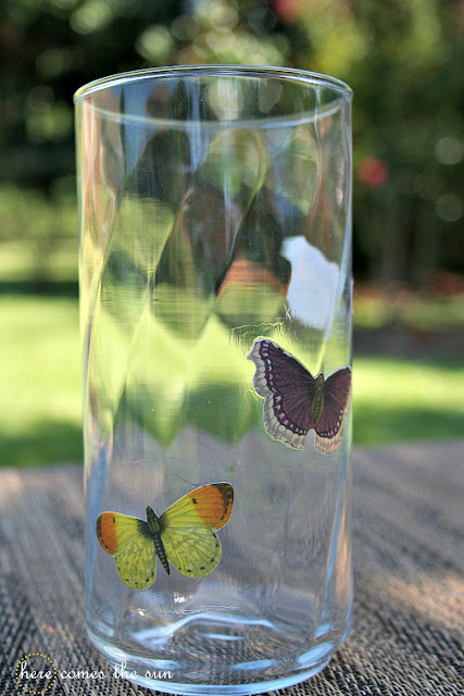 How to Make Decoupaged Butterfly Glasses