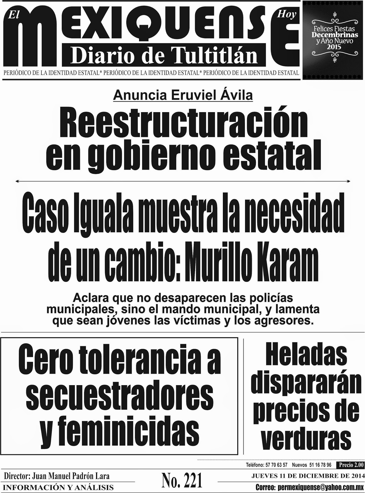 El Mexiquense Hoy 11 Dic 2014