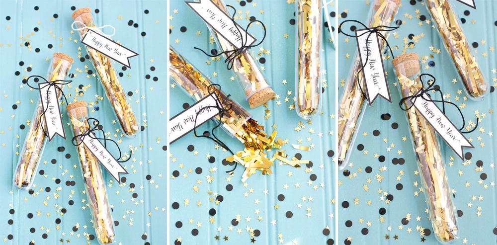 diy regalo invitados fin de año nochevieja con confetti fácil y lowcost