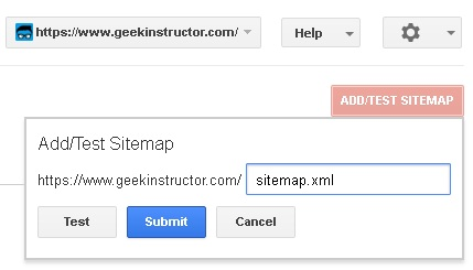 Add new sitemap