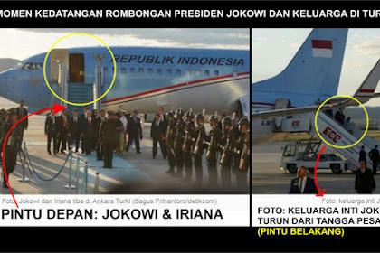 Membungkam Jokower: Foto Momen Kedatangan Presiden Jokowi dan Keluarga, Ada 2 Pintu, Dasar Ndeso!