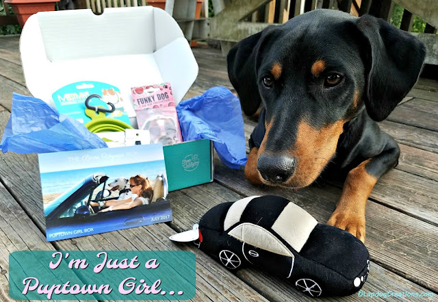 Puptown Girl dog mom subscription box doberman rescue
