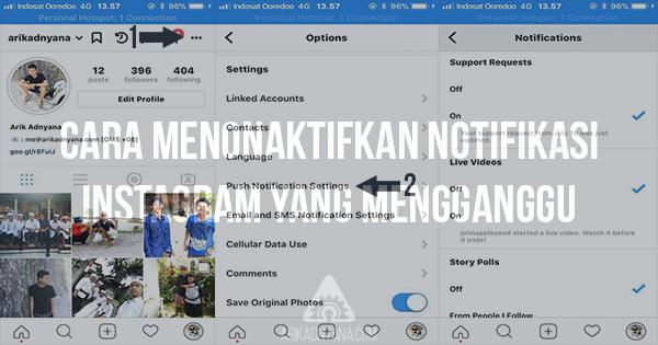 Cara Menonaktifkan Notifikasi Instagram Yang Mengganggu