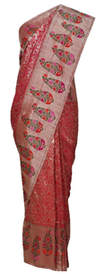 Gold- Pink Kinkhab With Paithani Border Banarasi Hand Woven Saree