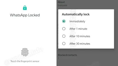 WhatsApp Android Fingerprint lock