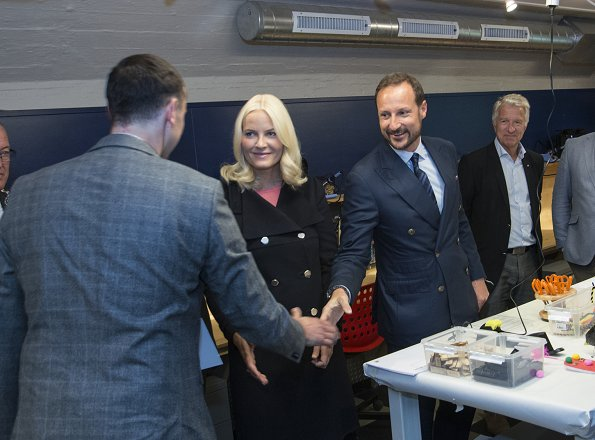 Crown Prince Haakon and Crown Princess Mette-Marit attend Starmus Festival 2017 in Trondheim. wore prada shoes