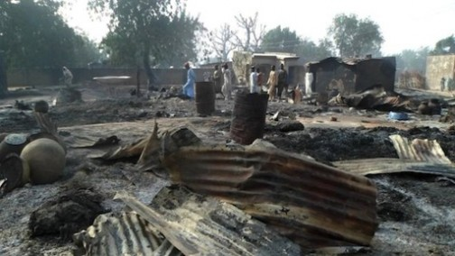 boko haram burn down village maiduguri