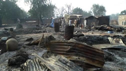 boko haram burn down village maiduguri