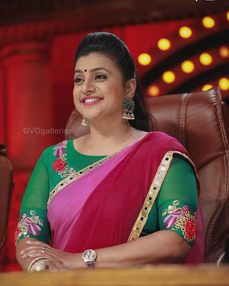 Actress Roja Latest Saree Photos Gallery