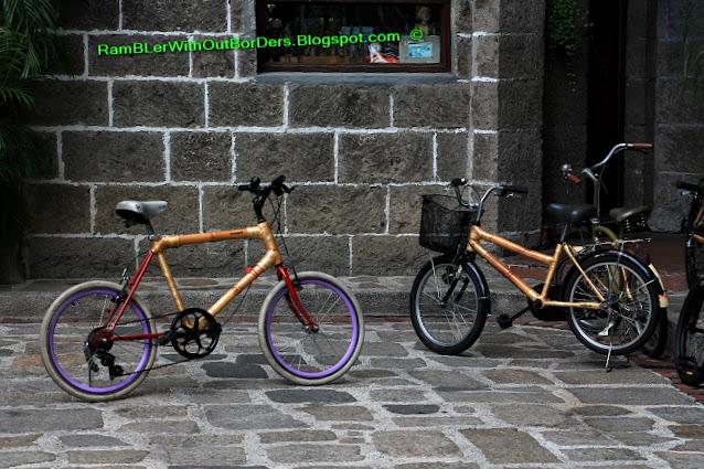 bamboo bikes, Casa Manila, Intramuros, Manila, Philippines