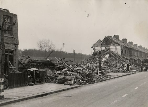 19 March 1941 worldwartwo.filminspector.com East Ham Blitz bomb damage