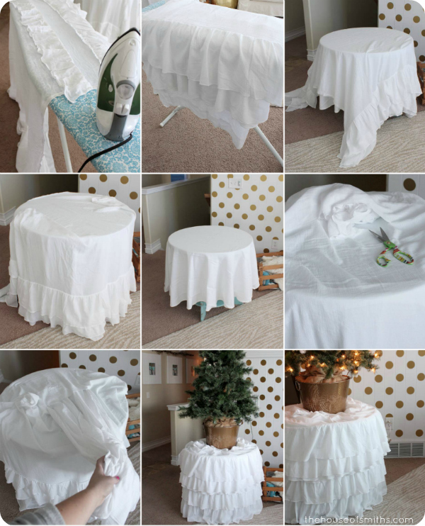 DIY ruffled tree skirt - thehouseofsmiths.com
