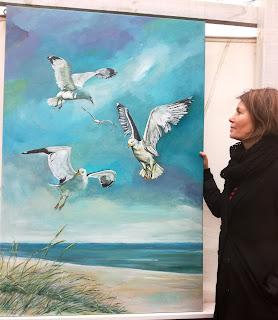 Hvide Sande, hav, måger, kunst gallery, gallerie, galleri, Ayoe, sea, ocean, clean wather, seagulls, sky, contemporary,