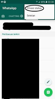 menu privasi status