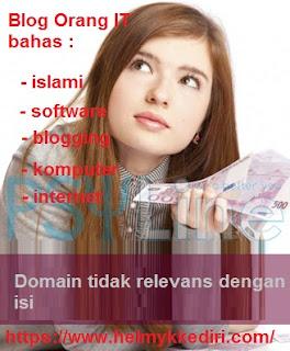 Nama domain tidak relevans