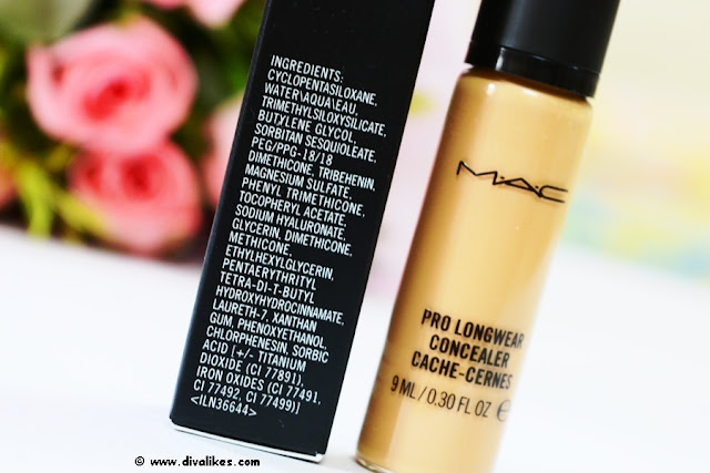 MAC Pro Longwear Concealer NC42 Ingredients