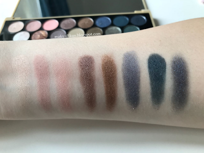 Makeup Revolution Fortune Favours the Brave Eyeshadow Palette Swatch