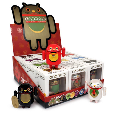 Lucky Cat Android Mini Figure Series by Shane Jessup
