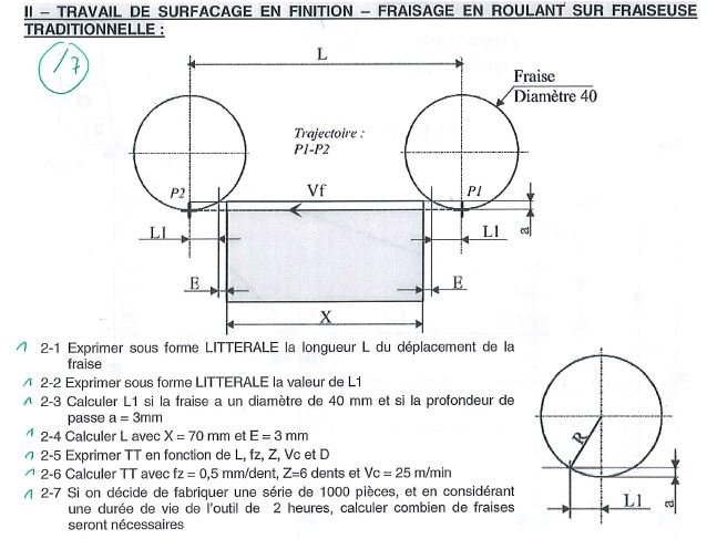 Calcul temps de fabrication exercices corrigés - détermination des temps d'usinage en pdf