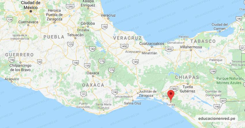 Temblor en México de Magnitud 4.2 (Hoy Lunes 22 Junio 2020) Sismo - Epicentro - Tonalá - Chiapas - CHIS. - SSN - www.ssn.unam.mx