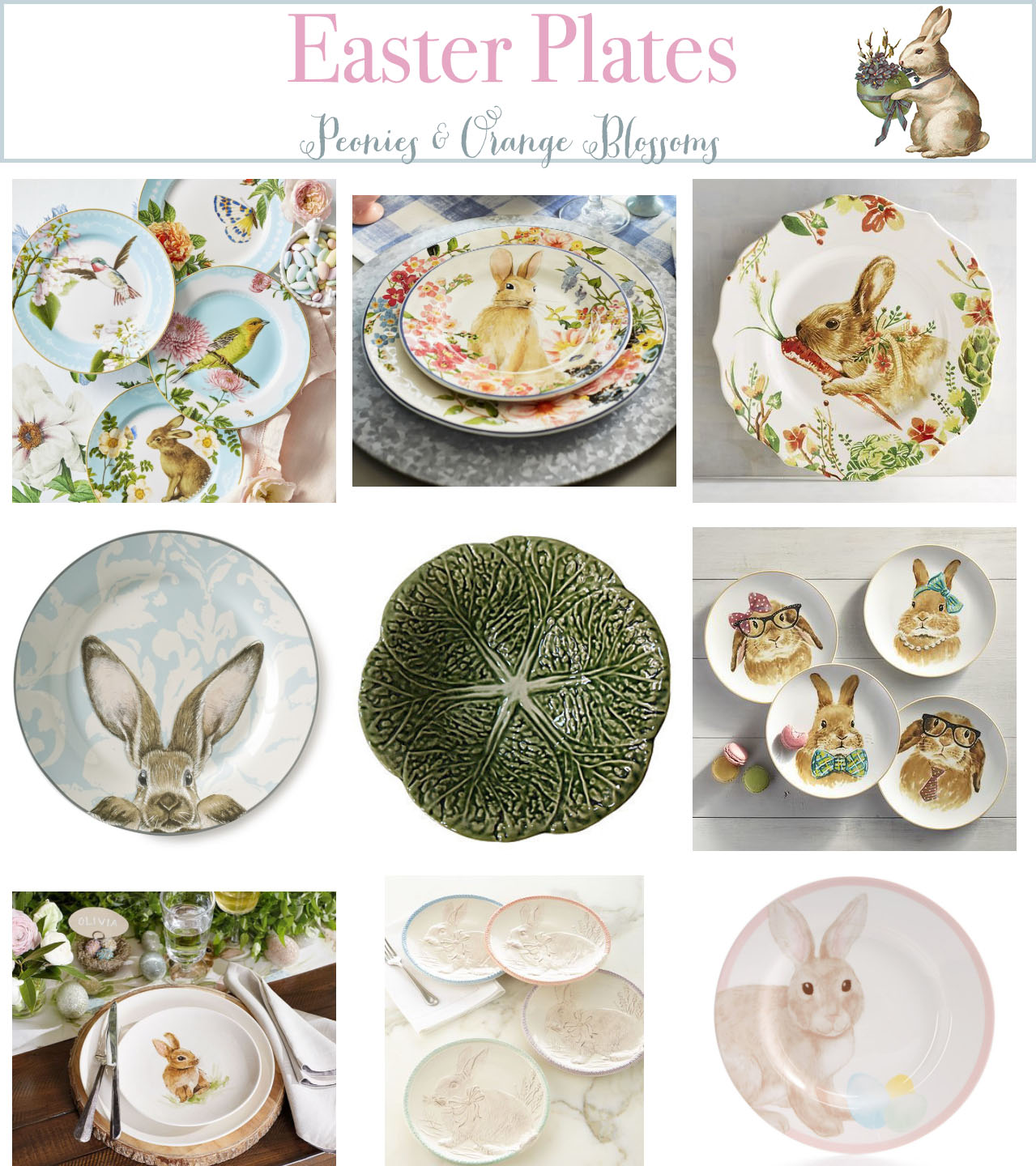 Easter Plates - Petite Haus