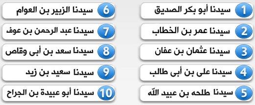 10 Nama Sahabat Rasul (Asratul Kiraam)