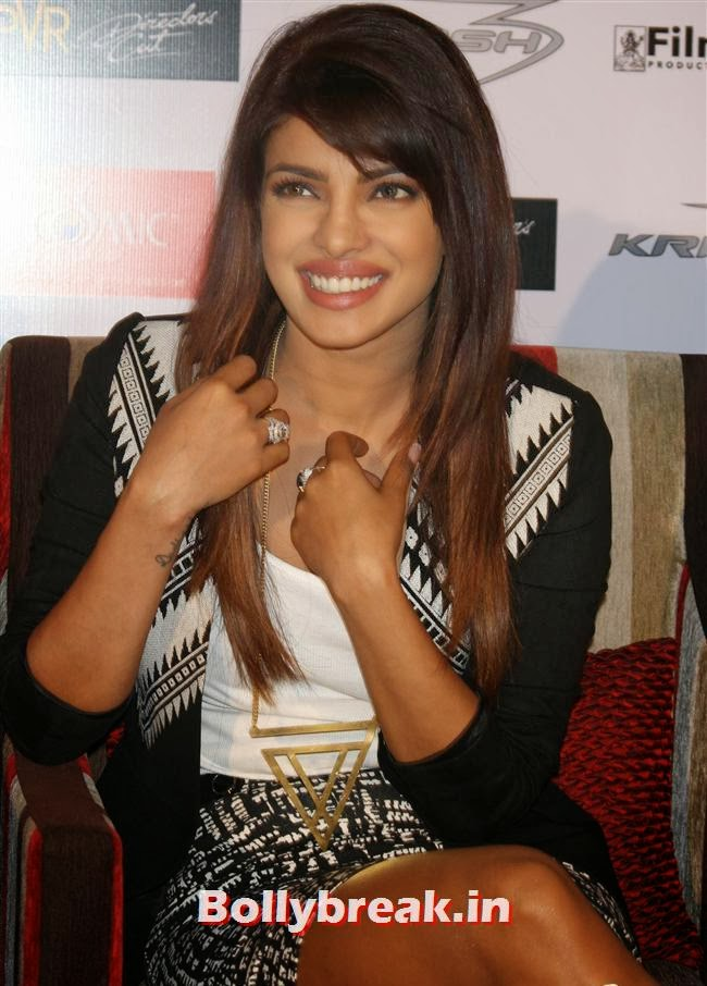 Priyanka Chopra, Priyanka & Kangana at Krrish 3 Press Conference