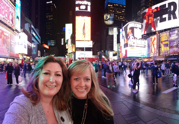 Melissa & Angela in Time Square