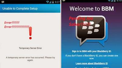 Mengngatasi BBM Pending Atau Error Di Android.